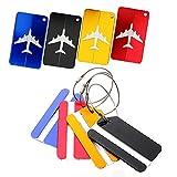 Kofferanhänger Koffer Tags mit Namensschild Adressschild Gepäckanhänger aus Metall 8 Farben von JTENG