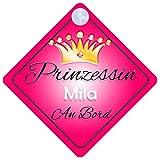 Prinzessin Mila Baby / Kind an Bord Mädchen Auto-Zeichen (Prinzessin001)