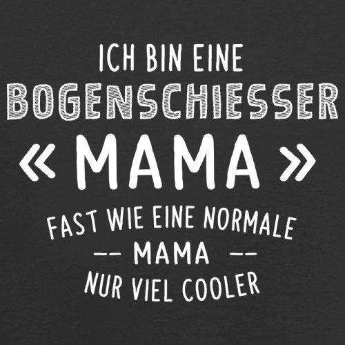 Ich bin eine Bogenschiesser Mama - Herren T-Shirt - 13 Farben Schwarz