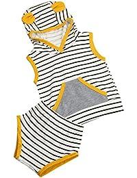 Conjuntos ropa de Niños, SMARTLADY Bebés Camisetas con capucha + Pantalones cortos