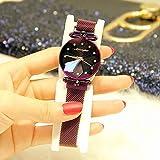 GRCSGL Uhr-Mädchen-Sternenhimmel-Magnet-Bügel-Mode-Trend-wasserdichtes 2018 Netz-rote Uhr-Himmel-Stern, violett