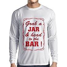 N4524L Camiseta de Manga Larga Grab a Jar and & Head to The ...