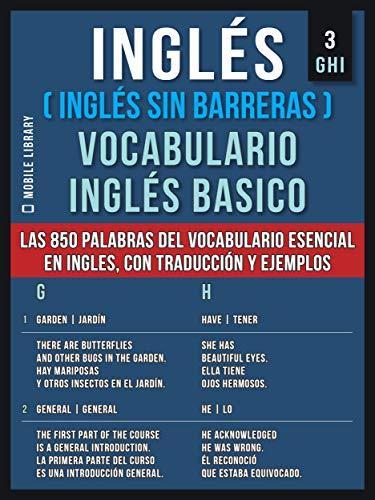 Inglés Inglés Sin Barreras Vocabulario Ingles Basico 3
