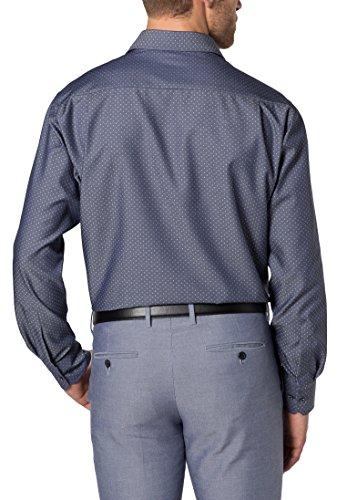 ETERNA long sleeve Shirt COMFORT FIT Figurative dobby pattern patterned Blu jeans