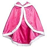 Cape de Deguisement, ChunTian Enfant Fille Châle de Princesse Epais Rose À capuchon pour Fête Noël Carnaval Cosplay 3-10 ans