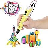 OBEST NIU 3D Drucker Stift,3D Pen 3D Stift 3D Stereoscopic Printing Pen Set mit...