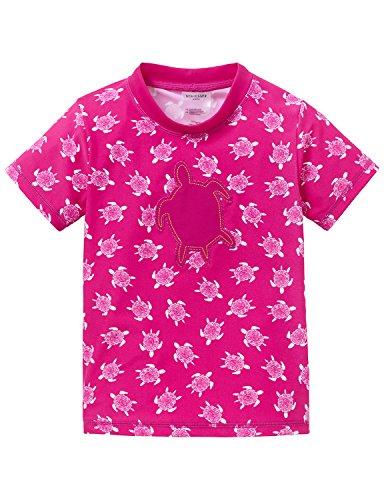 Schiesser Mädchen Tankini Bade - Shirt, Gr. 116, Rot (fuchsia 508) (T-shirt Hey Hey Roten)