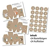 Image of DIY-Adventskalender Set zum Basteln - Waldtiere Kisten