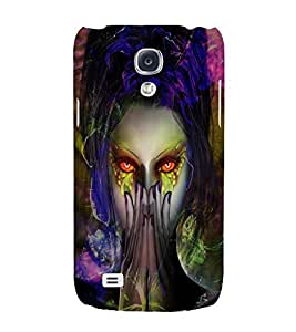 PrintVisa Modern Art Girl 3D Hard Polycarbonate Designer Back Case Cover for Samsung Galaxy S4