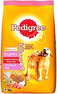 Pedigree Puppy Dry Dog Food, Chicken & Milk, 3kg