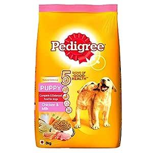 Pedigree Puppy Dry Dog Food, Chicken & Milk, 3kg Pack