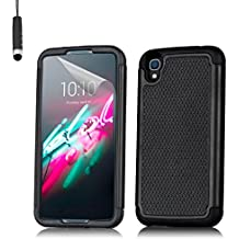 32nd® Funda Rígida Anti-Choques de Alta Proteccion para Alcatel OneTouch Idol 3 (4.7 pulgadas) Carcasa Defensora de Doble Capa – Negro