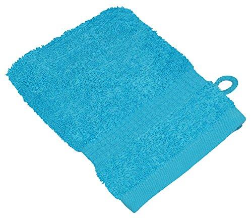starlabels Serviettes Disponible en 15 couleurs et 5 dimensions doux saugstark 500 g/m², 100% coton, Coton, Türkis, 15 cm x 21 cm