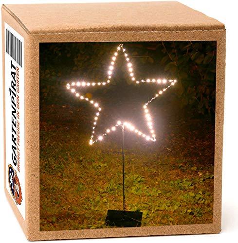 LED-Stern beleuchtet stehend mit Ständer 90 cm 80 LED warmweiß Weihnachten