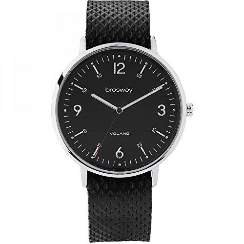 La hora del reloj Sólo hombres Negro Brosway WVO01