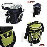 Fahrradtasche Kühltasche - Farbe wählbar + kostenloser Versand / Gepäckträgertasche Fahrradkühltasche Tasche lime navy (Lime)