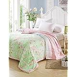 Dngy*Tencel Verano Aire acondicionado colcha edredón impresión reactiva fresco verano colcha cama twin Set ,
