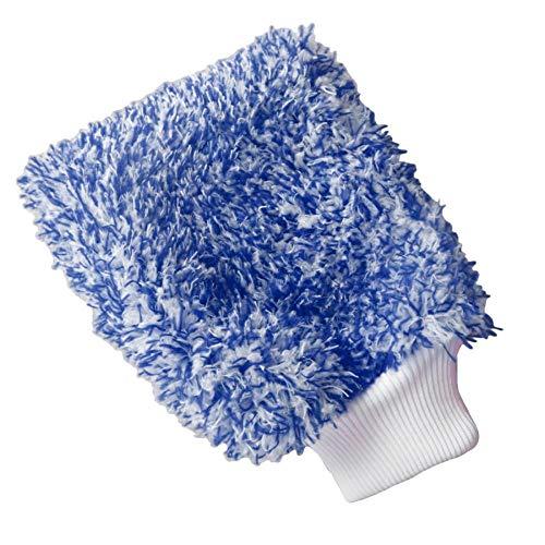 LIANGEGE Autowaschlappen Soft Absorbancy Glove High Density Auto Reinigung Ultra Soft Leicht zu trocknen Auto Detaillierung Mikrofaser Madness Waschhandschuh Tuch Handtuch Blau -