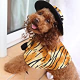 Pet Online Hund Kleidung Halloween dress up Festival schickes Kostüm Anzug perücke Schal hat Klage pet Kleidung, Tiger Muster, M