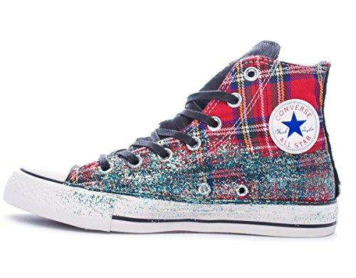 Converse All Star Hi Texile Ltd donna, tela, sneaker alta Tartan Glitter