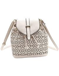 MagiDeal Retro Women Ladies Bag Handbag Leather Shoulder Satchel Messenger Cross Body - white