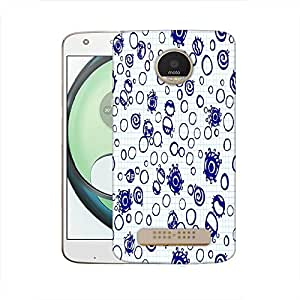 Snoogg Bubbles Blue Designer Protective Phone Back Case Cover For Motorola Moto Z Play