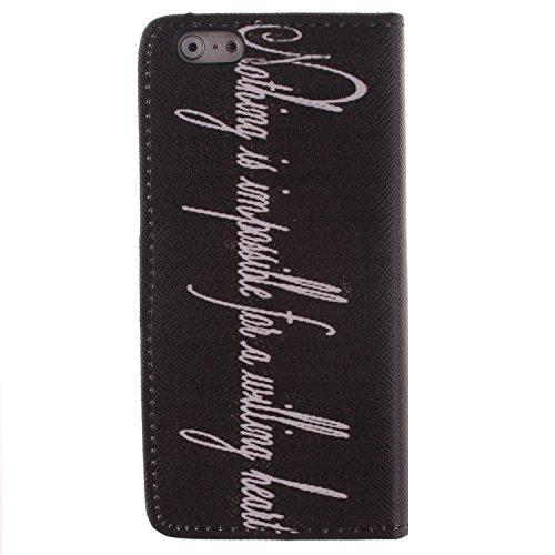 Ekakashop iPhone 6 Cover, iPhone 6S Custodia in pelle, Copertura di Vibrazione pelle con Magnete Flip Carina Balena Blue Case Stile del Libro di pelle della Protezione di caso del basamento della Cope Speciale Lettera