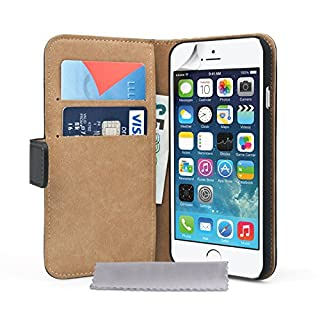 Caseflex iPhone 6 Tasche Schwarz Echt Leder Brieftasche Hülle (B00MURS7NI) | Amazon price tracker / tracking, Amazon price history charts, Amazon price watches, Amazon price drop alerts