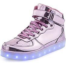 pretty nice 13dd9 41d80 FLARUT 7 Farbe USB Aufladen LED Leuchtend Leuchtschuhe Blinkschuhe Sport  Schuhe für Jungen Mädchen Kinder