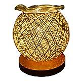 Abricot Plugged In Aroma Lamps Diffuseur D'huile Essentielle Maison Vaporisateur Sourdine Lampe De Chevet Boule De Chanvre Creative Petite Lampe De Table Base En Bois Vaporisateur 6.69 '' * 5.91 ''