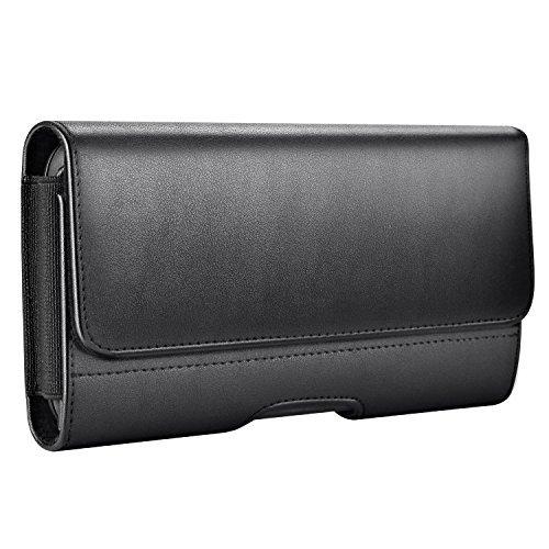 Mopaclle iPhone 8 Plus Custodia Case, Cover Clip per Cintura con ID Slot e Magnetica Spegni per Samsung Galaxy S9 Plus,iPhone 7 Plus, iPhone 6 Plus,iPhone 6s Plus,Galaxy S8 Plus,Galaxy J7 - Nero