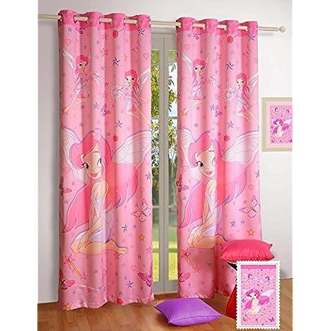Blackout Poly tela de raso animales de la selva para ventana Cortinas–Juego de 2paneles de cortina para un infantil guardería o de bebé o un dormitorio infantil–Paneles de 48