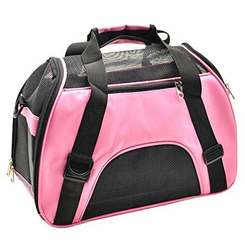 EDYUCGA Hund Rucksäcke Pet Taschen Gehen Tragetaschen Hund Taschen Katze Boxen Reisetaschen,Pink-L