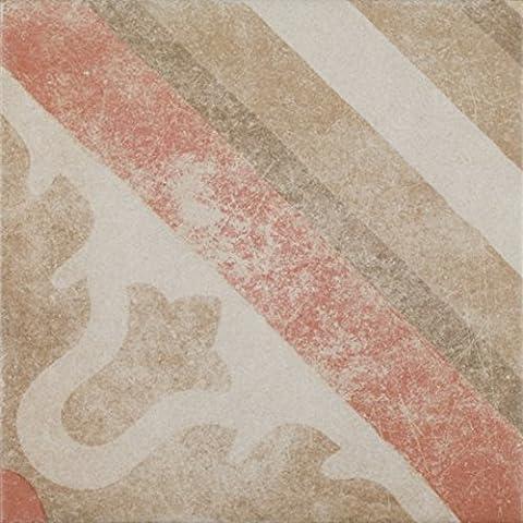 Zementoptik Bodenfliesen Dekor cotto mix glasiert 24,3x24,3x1,0cm 1 Karton=1,0qm