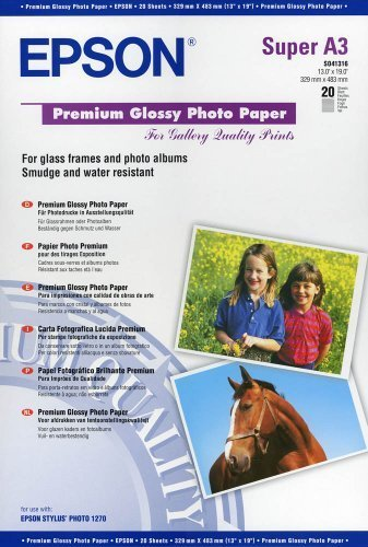 Epson Premium Glossy Fotopapier S041316 / DIN A3+ / 250 g/m² hochglänzend