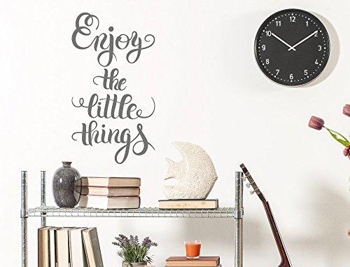 """I-love-Wandtattoo 11964 Wandtattoo Wohnraum Spruch """"Enjoy the little things"""" Schriftzug auf Englisch Wanddeko Wandbild Wohnzimmer Schlafzimmer Eingangsbereich Wandverzierung"""