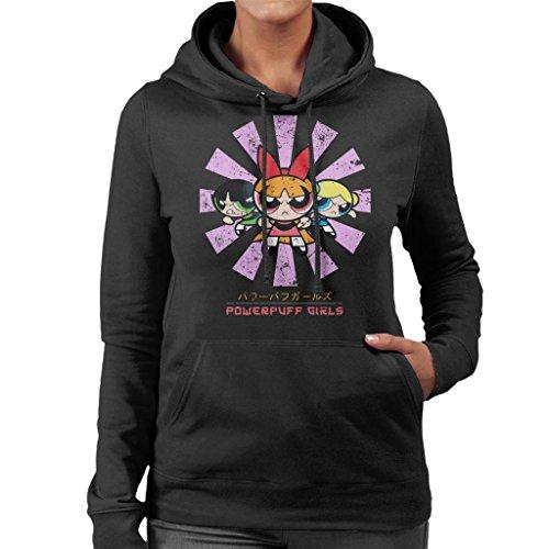 Cloud City 7 Powerpuff Girls Retro Japanese Women's Hooded Sweatshirt