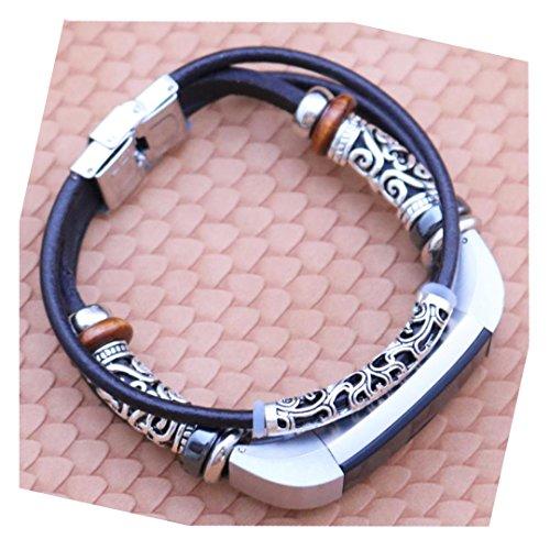 Correas para Fitbit Alta HR/Fitbit Alta Sannysis fitbit alta correa magnetica genuino banda de reloj de cuero pu pulsera bohemia fitbit alta hr correa (B)