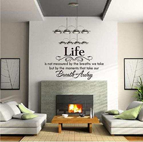 Wohnzimmer wandaufkleber leben ungemessen wand dekoration applikation inspirierend wandkunst aufkleber logo text wandaufkleber 70X40 CM
