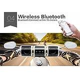 Sistemas de Audio para Moto Altavoz Impermeable Bluetooth Inalámbrico Radio de Motocicleta Hi-Fi USB para Bicicleta Sonido Estéreo de Alarma Remota Reproductor de MP3 USB / TF Card / AUX In / Radio FM