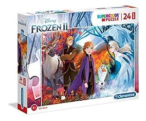Clementoni 28510 Clementoni-28510-Supercolor Disney Frozen - Puzzle para niños (2-24 Piezas)