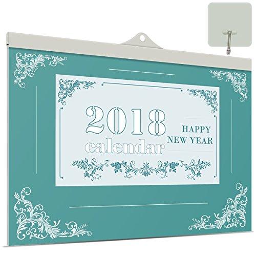 Kalender Tag (VemMore Kalender 2018 Wandkalender 12 Monate Jan-Dez (Kalender 365 Tage) -  Wandplaner, Familienkalender, Ferientermine & 1 Jahr Planung Happy New Year - Grün Blumen)