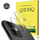 """QHOHQ Fotocamera Lens Pellicola Protettiva per iPhone 11 (6.1"""") Vetro Temperato, [2 Pezzi] [Durezza 9H] Alta Definizione Senza Bolle Anti-Graffio (Trasparente)"""