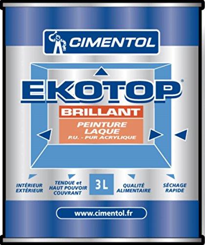 EKOTOP SATIN laque satinée pur acrylique int/ext 3L blanc