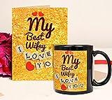 Tied Ribbons My Best Wife Ceramic Printed Coffee Mug (325ml) With Greeting Card