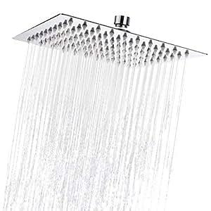 Baban 8 Zoll Duschkopf Kopfbrause Regendusche Top Duschköpfe Regenduschkopf Regenbrause 304 Edelstahl poliert Spiegeleffekt 8'' Top Spray Shower Head Quadratisch