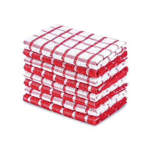 Daily Home Essentials Kariert Terry Küche Handtuch, Reinigung, Handtücher, Bar Mop Set, Geschirrtücher, Fensterscheibe Auflaufform Handtücher. 12