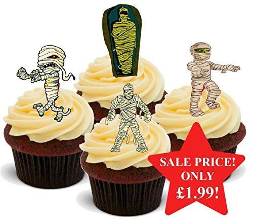 Halloween Mummy Mumien Mix - Interessante Neuheit PREMIUM AUFSTEHEN Essbar Waffel Papier Kuchen Topper Dekoration (Kuchen Mumie Cupcakes Halloween)