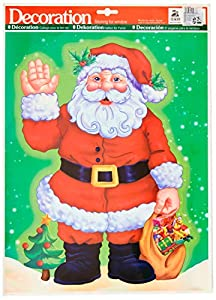 GiviItalia 45237 - Pegatina de Papá Noel, 30 x 42 cm, diseño de Papá Noel, multicolor