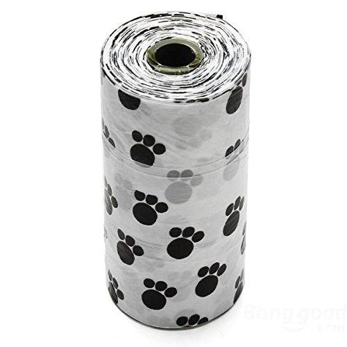 Bazaar Fußabdruckmuster nimmt überflüssige Hecktaschen für Lieblingshundkatzen 1 Rolle auf